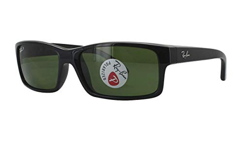 Ray-Ban RB4151-601/2P Sunglasses Black/Polar Green 59mm (Ray Ban Optiker)