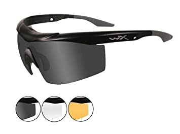 b83d3aef96 Image Unavailable. Image not available for. Colour  Wiley X WX Talon  Sunglasses - Smoke ~ Clear ~ Light Rust