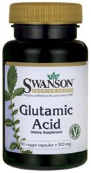 Glutamic Acid 500 mg 60 Veg Caps by Swanson Premium