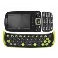 Samsung Gravity 3 T479 Unlocked GSM Phone with 3G, QWERTY Keyboard, 2MP Camera, Bluetooth and Music Player - White/Green