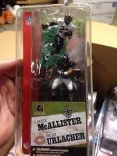 (DEUCE MCALLISTER / NEW ORLEANS SAINTS & BRIAN URLACHER / CHICAGO BEARS * 3 INCH * McFarlane's NFL Sports Picks Series 1 Mini Figure 2-Pack)
