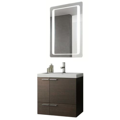 Nameeks ANS226 ACF 23-6/15″ Wall Mounted Vanity Set with Wood Cabinet, Ceramic T, Wenge