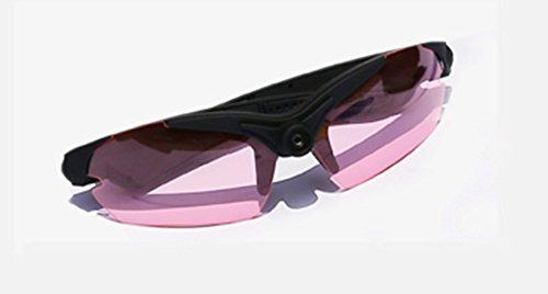 UltraByEasyPeasyStore POV Glasses W/ Pink Lenses Action Video Camera 720p HD High Resolution sports glasses for outdoor use black (+8gb Micro SD - Pivothead Hd Sunglasses
