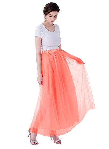 f95bfb3fd8 Kileyi Womens Elastic Wedding Formal. Review - Kileyi Womens Long Elastic  High Waist Tulle Tutu Maxi Prom Wedding Formal Skirt