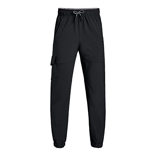 Under Armour Boys' X Level Cargo Pants, Black /Graphite, Youth Large -