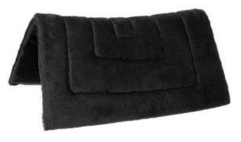 Tough 1 Pony Size Western Double Fleece Pad, Black