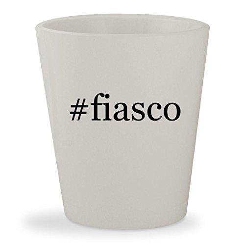 #fiasco - White Hashtag Ceramic 1.5oz Shot - Fiasco Lupe Glasses