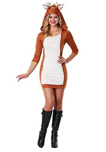 Sexy Deer Costume Small/Medium Brown ()