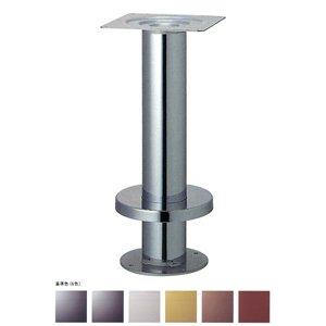 e-kanamono 床面固定式テーブル脚 タイト139 カバー220φ パイプ139φ 受座240x240 基準色塗装 高さ700mmまで 黒メラ焼塗装 B012CF1V8A 黒メラ焼塗装 黒メラ焼塗装