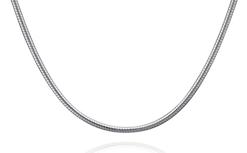 Italian Sterling Silver Snake Necklace product image