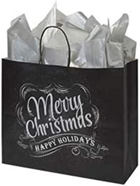 Sprinkles Gifts Rustic Merry Christmas Happy Holidays Chalkboard Paper Gift Bag Bags (100)
