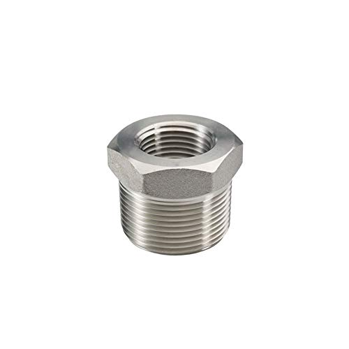 """Beduan Stainless Steel Reducer Hex Bushing, 1"""" Male NPT to 3/4"""" Female NPT, Reducing Cast Pipe Adapter Fitting"""