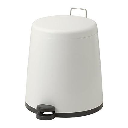 Amazon.com: IKEA cubeta de basura con pedal, color blanco, 3 ...