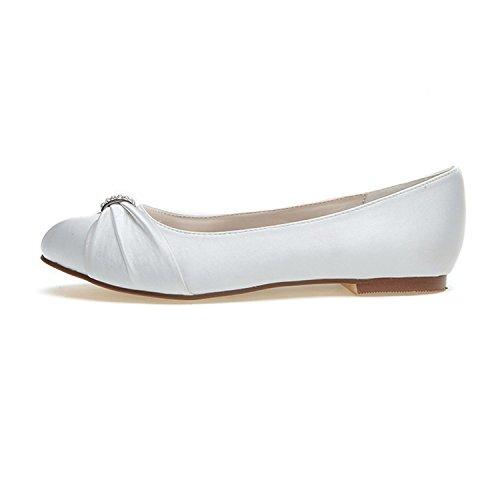 L@YC Zapatos De Boda De Las Mujeres 9872-06 Primavera Verano OtoñO Invierno Noche Fiesta De Ocio Y Raso / Zapatos Planos Red