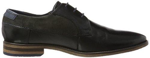 Bugatti 312164041034, Zapatos de Cordones Derby para Hombre Negro (Black / Grey)