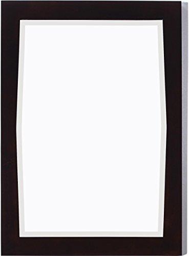 24-in. W x 34-in. H Transitional Birch Wood-Veneer Wood Mirror In Antique Walnut by American Imaginations