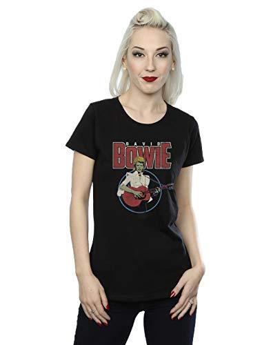 David Bowie Women's Acoustic Bootleg T-Shirt XX-Large Black