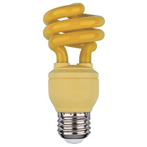 Energy Saving Bug Repellent CFL Light Bulbs - 13 Watt Bug Light - Features A19 Shape & E26 Base - Perfect for Outdoor, Patio, Backyard, Porch, Deck Lightings - Pack of 2
