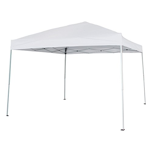 FurniTure Outdoor Canopy 10' x 10' Patio Canopy Garden Canopy Pop Up Canopy Instant Canopy Tent Easy Set Up with Carry Bag, White by FurniTure