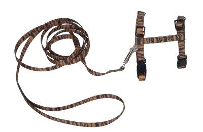 Coastal Pet Products CO63470 Figure H Fashion Cat Adjustable Harness & Leash Combo, Tiger