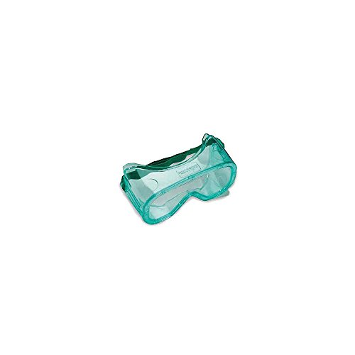 Sellstrom S81220 PVC Advantage Non-Vented Economy Protective Goggle, Safety Goggle, Green Tinted Body/Clear Anti-Fog