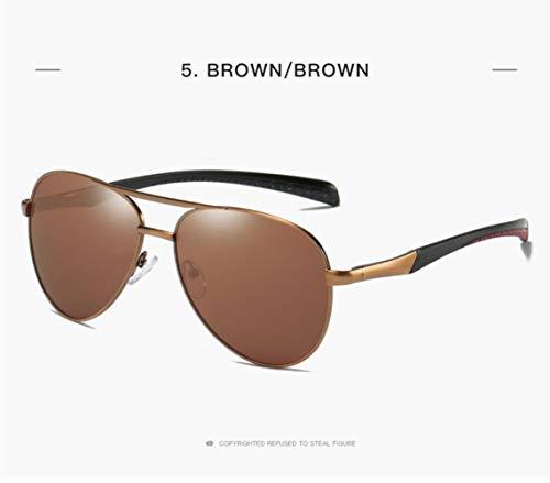 400 Mujer Hombre Style UV para Gold Sol Gafas para Piloto Protection De Y Classic brown Polarized wI0nav