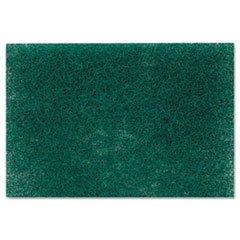 Commercial Heavy-Duty Scouring Pad, Green, 6 x 9, 1 Dozen