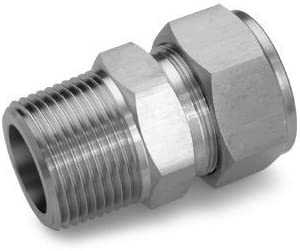1//4 X 1//4 BSP//NPT MALE 316 ST.STEEL Hydraulic Stainless Steel Adaptors and Fittings BSPP Male x NPTF Male