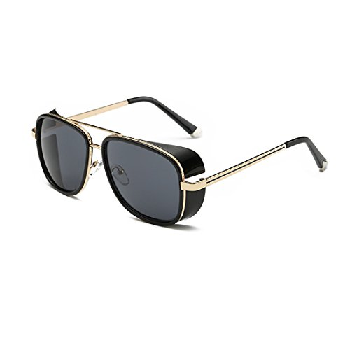 LIKEOY Best Men Aviator Goggles Sunglasses ,Metal Frame Rimmed UV400 Lens - Bans Tortoise Aviator Shell Ray