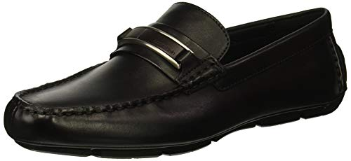 Black Calf Loafer Shoes - Calvin Klein Men's KADISON Dress Calf Driving Style Loafer, Black, 10.5M M US