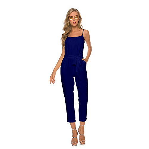 ✔ Hypothesis_X ☎ Long Loose Jumpsuit for Women,Sexy Sling V-Neck Pocket Jumpsuit Jumpsuits for Women Casual -