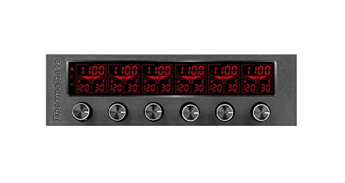 Six Channel Rackmount - Thermaltake Commander F6 RGB LCD 6 Channel Single 5.25'' Bay Fan Controller AC-024-BN1NAN-A1
