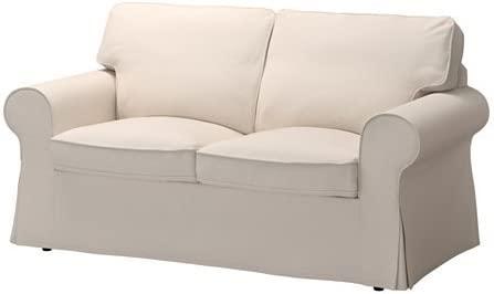 IKEA Ektorp Loveseat Couch Cover Lofallet Beige [2 Cushion ...