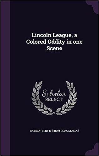 Book Lincoln League, a Colored Oddity in One Scene