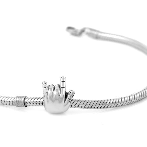 925 Sterling Silver I Love You Hand Sign Bead For European Charm Bracelets
