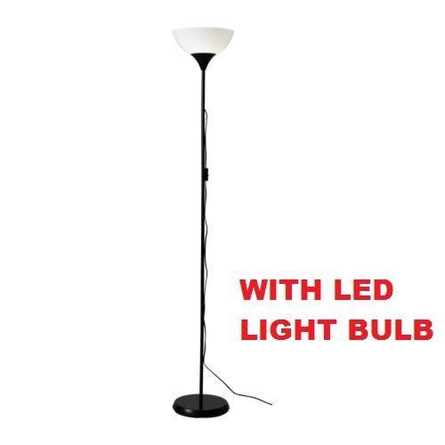 Ikea Not Floor Lamp, LED Light Bulb Included Black, White