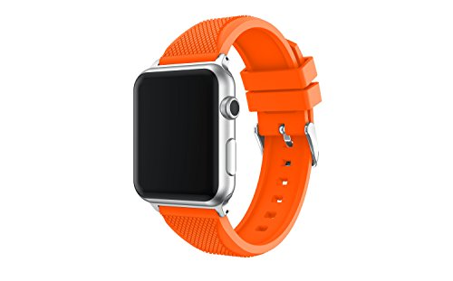 Price comparison product image Apple Watch Band, Enow Soft Silicone Replacement Sports Band for 42mm Apple Watch 2015 & 2016 All Models, Orange