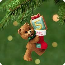 Hallmark Childs Fifth Christmas Ornament - 3