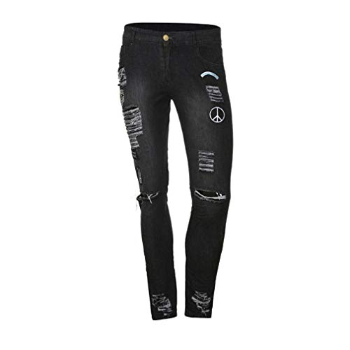 De Jeans Casual Battercake Fit Crests Pantalones Dunkelgrau Destruidos Mezclilla Motocicleta Hombre Elástica Cómodo Slim Logo Summer Streetwear 55xrAnFqw