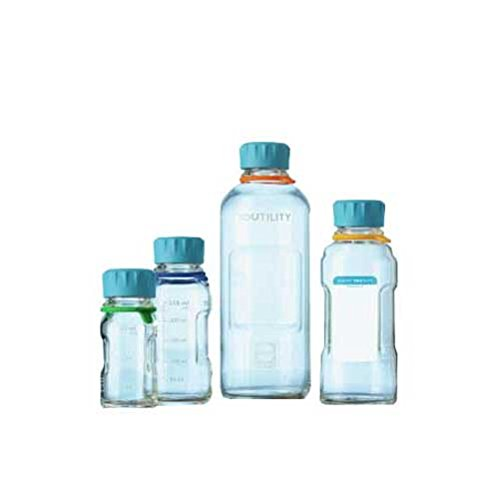 Duran 1502534 Youtility clear laboratory Glass Bottle with cap label and tag, 500 mL (Pack of 4)