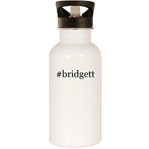 #bridgett - Stainless Steel Hashtag 20oz Road Ready Water Bottle, White