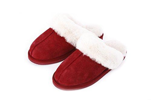 Pantofole In Pelle Di Montone Australiano Da Uomo In Vera Pelle Dagnello