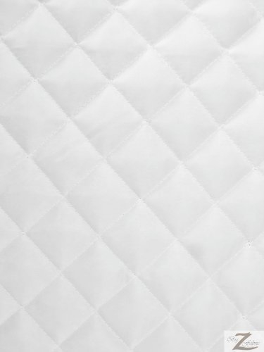 QUILTED POLYESTER BATTING FABRIC - White - 60