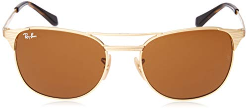 Ray-Ban Men's Metal Man Square Sunglasses, Gold/Brown, 55 mm by Ray-Ban (Image #2)