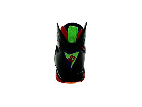 Nike Jordan 7 Retro Bp, Zapatillas de Deporte para Niños Negro / Rojo / Verde (Blck / Unvrsty Rd-Grn Pls-Cl Gry)