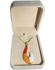 Waymore Kinderen halsketting Anime ketting met geschenkdoos met hanger rood vos halsketting sieraden kerstcadeau