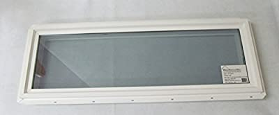 "Transom Window 12"" x 36"" Double Pane Low E Tempered Glass"