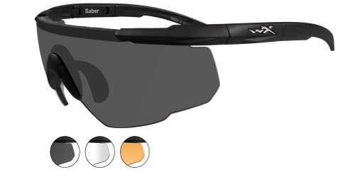 Wiley X SABER ADVANCED Smoke Grey - Clear - Light Rust Lenses/Matte Black Frames - Wiley Saber X Sunglasses Advanced