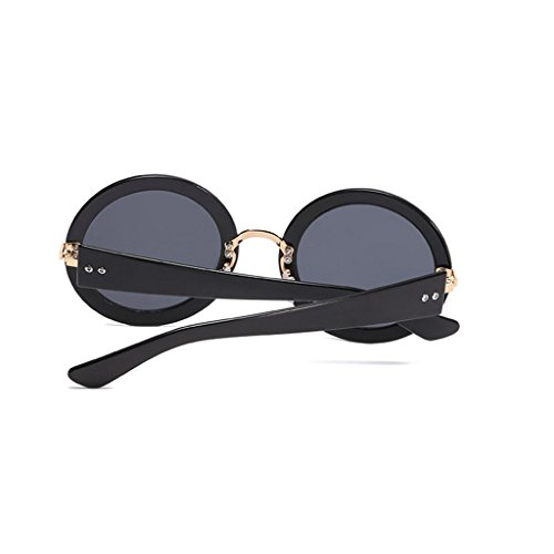 Brown Sunglasses GAOLIXIA Miroir Lunettes Mme Mode Visière Frame de Couleur Sunglasses Retro Round soleil Film Hommes Personnalité Rqaq5