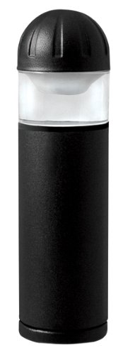 Paradise by Sterno Home Low Voltage Cast Aluminum Bollard Landscape LED Light, Black